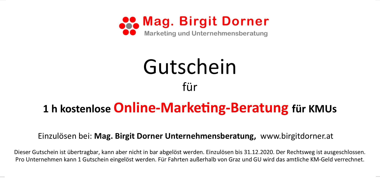 Gutschein für Internet Marketing